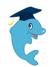精英特吉祥物蓝色小海豚是智慧美丽的化身