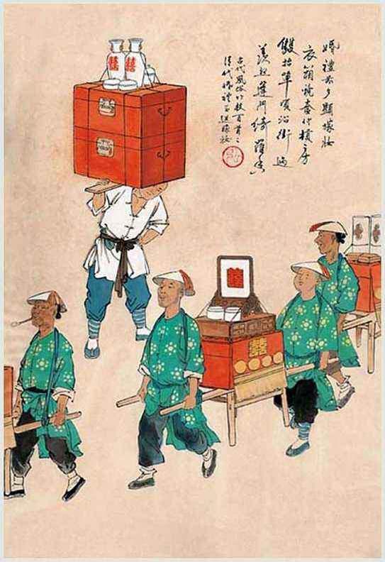 """婚嫁""""六礼""""是指中国传统嫁娶的礼仪,为纳采、问名、纳吉、纳徵、请期、亲迎。"""